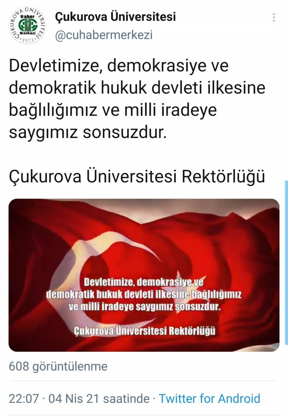 """Rektör Prof. Dr. Meryem Tuncel:  """"Devletimize Bağlılığımız, Milli İradeye Saygımız Sonsuzdur…"""""""