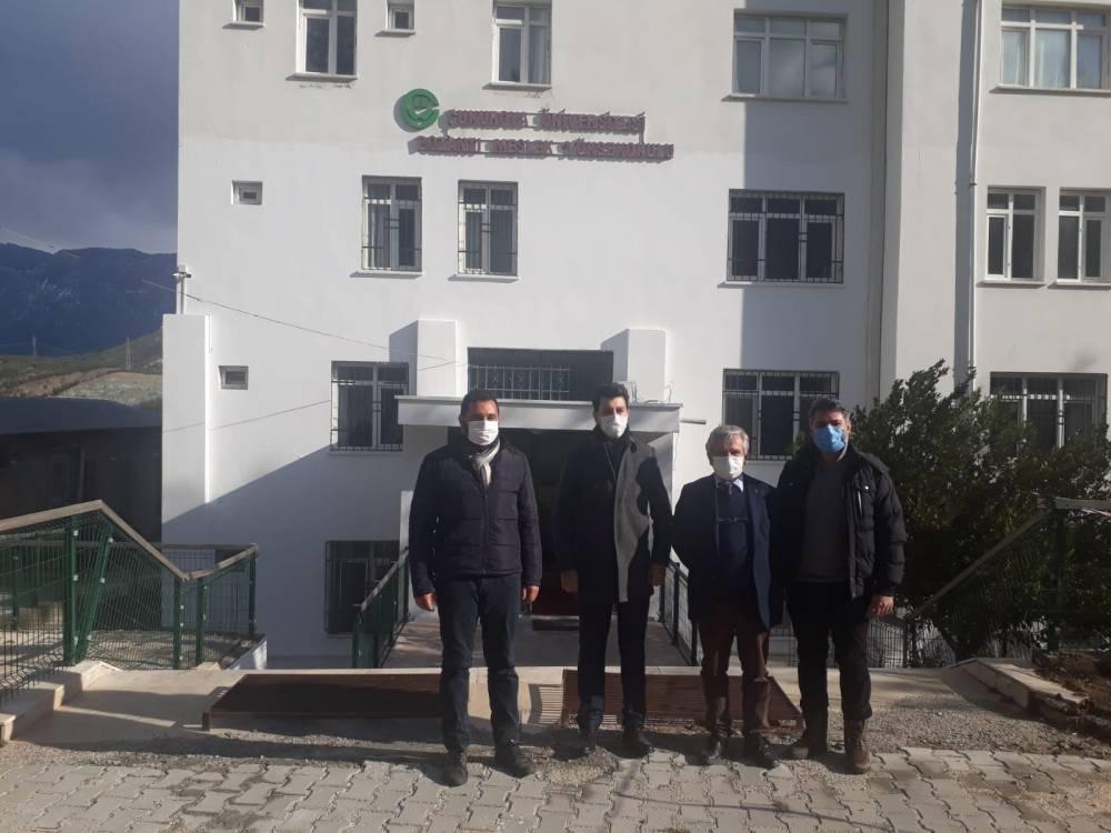 Pozantı Kaymakamı Akduman,  ÇÜ POZMER'i Ziyaret Etti