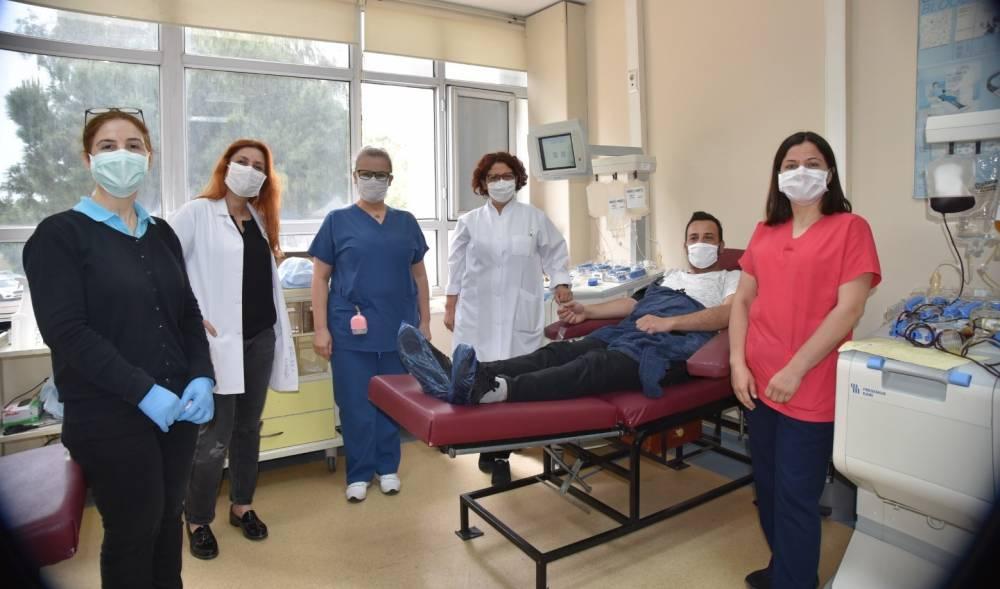 Balcalı'da covid-19 tedavisi için ilk immün plazma bağışı başarıyla gerçekleşti