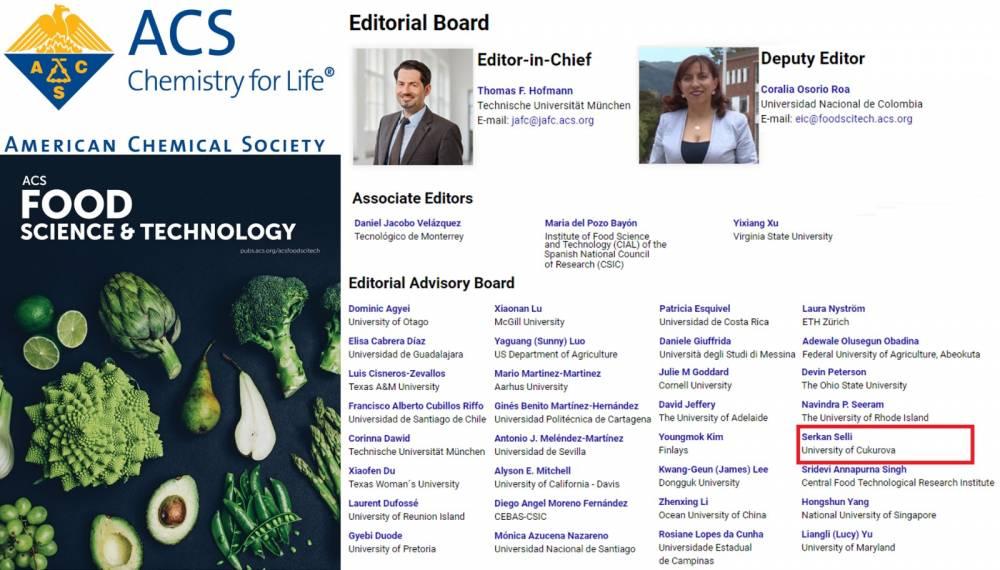 Prof. Dr. Selli,  Dünyaca Ünlü Bilimsel Derginin Yayın Kurulu Üyeliğine Davet Edildi