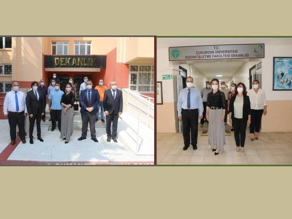 Rektör Prof. Dr. Tuncel Ceyhan ve Kozan Kampüslerini Ziyaret Etti