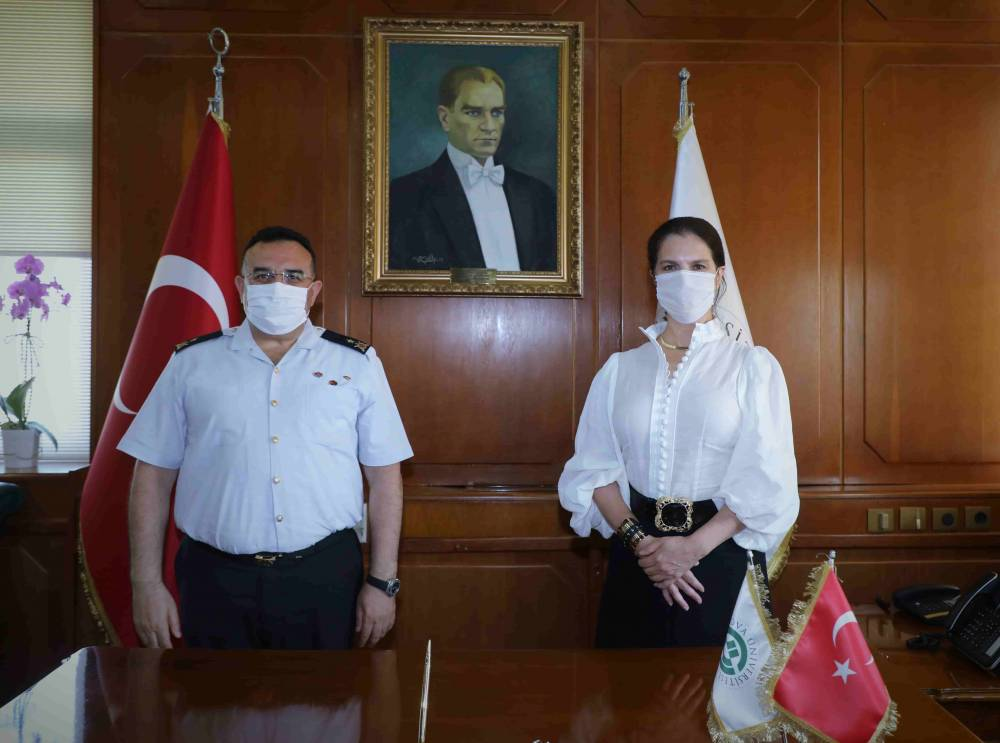 Jandarma Bölge Komutanı Tuğgeneral Koyuer'den Rektör Prof. Dr. Tuncel'e Ziyaret